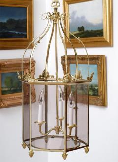 Important Regency Brass and Glass Lantern - 759116