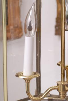 Important Regency Brass and Glass Lantern - 759117