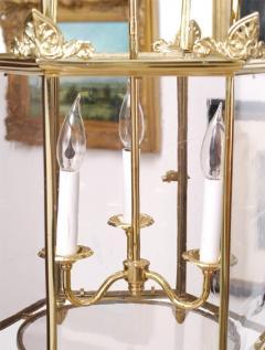 Important Regency Brass and Glass Lantern - 759119