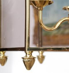 Important Regency Brass and Glass Lantern - 759120