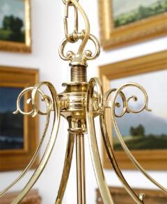 Important Regency Brass and Glass Lantern - 759121