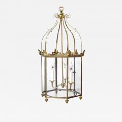 Important Regency Brass and Glass Lantern - 760427