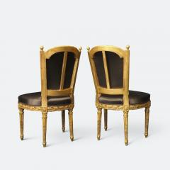 Important Set of Four 18th Century Louis XVI Giltwood Chairs with Stamp - 2045329
