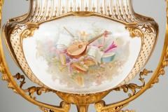 Important and Monumental Pair of Ormolu and S vres Style Porcelain Jardinieres - 1206535