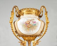 Important and Monumental Pair of Ormolu and S vres Style Porcelain Jardinieres - 1206537