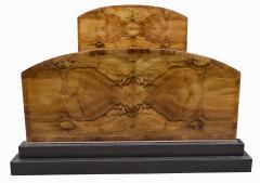 Impressive Art Deco Walnut Double Bed Circa 1930s - 1106036