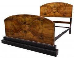 Impressive Art Deco Walnut Double Bed Circa 1930s - 1106037