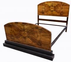Impressive Art Deco Walnut Double Bed Circa 1930s - 1106038
