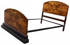 Impressive Art Deco Walnut Double Bed Circa 1930s - 1106039