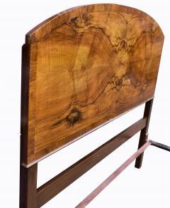 Impressive Art Deco Walnut Double Bed Circa 1930s - 1106041