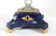 Impressive Bronze Mounted Lapis Base Covered Dome Cave - 1340803