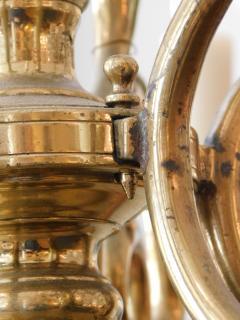 Impressive Dutch Three tier Brass 18 light Chandelier - 1878151