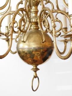 Impressive Dutch Three tier Brass 18 light Chandelier - 1878153
