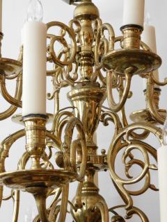 Impressive Dutch Three tier Brass 18 light Chandelier - 1878154