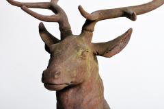 Impressive French Red Deer Sculpture - 1192946