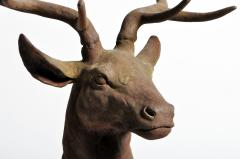 Impressive French Red Deer Sculpture - 1192951