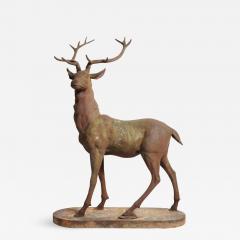 Impressive French Red Deer Sculpture - 1193846