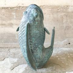 Impressive Koi Fish Sculpture in Solid Bronze Lovely Legendary Japanese Art - 1689763