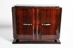 Impressive Mid Century Modern French Sideboard with Mable Top - 1193010