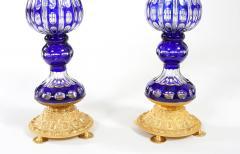 Impressive Pair Bronze Mounted Cut Crystal Vases - 1340816