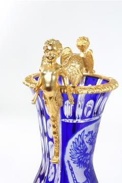 Impressive Pair Bronze Mounted Cut Crystal Vases - 1340819