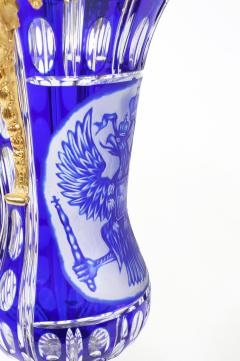Impressive Pair Bronze Mounted Cut Crystal Vases - 1340820