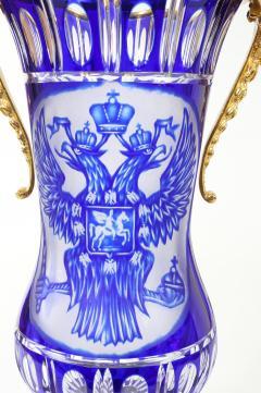Impressive Pair Bronze Mounted Cut Crystal Vases - 1340826