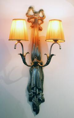 Impressive Pair of French Art Deco Wall Lights - 1988427