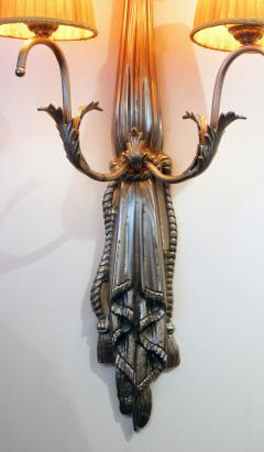 Impressive Pair of French Art Deco Wall Lights - 1988430