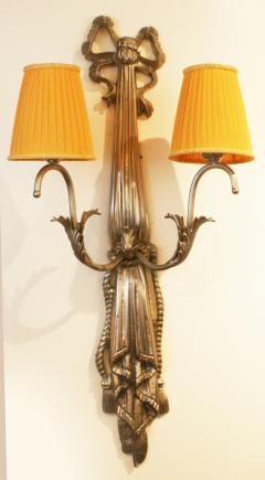 Impressive Pair of French Art Deco Wall Lights - 1988432