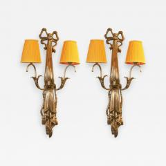 Impressive Pair of French Art Deco Wall Lights - 1988866