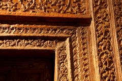Impressive Set of Carved Indian Doors with Thick Surround - 1844898