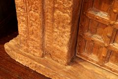 Impressive Set of Carved Indian Doors with Thick Surround - 1844899