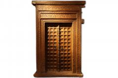 Impressive Set of Carved Indian Doors with Thick Surround - 1844900