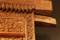 Impressive Set of Carved Indian Doors with Thick Surround - 1844904