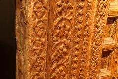 Impressive Set of Carved Indian Doors with Thick Surround - 1844907