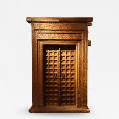 Impressive Set of Carved Indian Doors with Thick Surround - 1846604