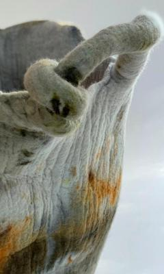 In s Schertel La o 2020 Naturally Dyed Felted Wool Vase by In s Schertel Brazil - 1305740
