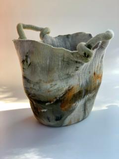 In s Schertel La o 2020 Naturally Dyed Felted Wool Vase by In s Schertel Brazil - 1349729
