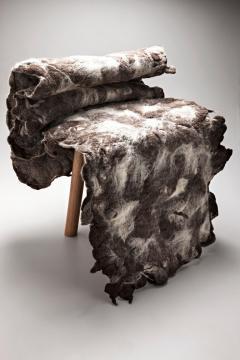 In s Schertel Tapera Little Chair in Wool and Tauari Wood by In s Schertel Brazil 2019 - 1590351