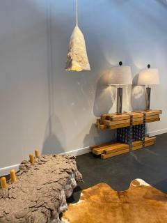 In s Schertel Untitled 2019 Silk and Felted Wool Hanging Lamp by In s Schertel Brasil - 1314143