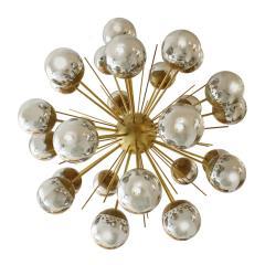 In the Style of Mid Century Modern Sputnik Italian Suspension Lamp - 1232811