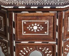 Indian Bone Inlaid Sandalwood Octagonal Table - 654917