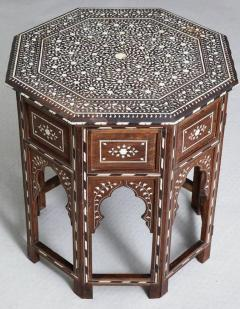 Indian Bone Inlaid Sandalwood Octagonal Table - 654918