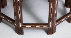 Indian Bone Inlaid Sandalwood Octagonal Table - 654922
