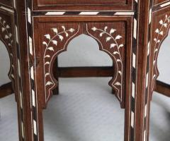 Indian Bone Inlaid Sandalwood Octagonal Table - 654923