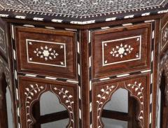 Indian Bone Inlaid Sandalwood Octagonal Table - 654924