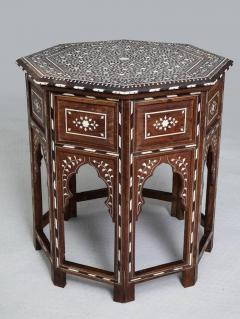 Indian Bone Inlaid Sandalwood Octagonal Table - 654925