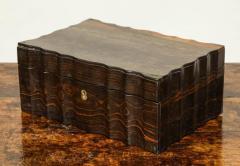 Indian Ebony Scalloped Sided Box - 663856