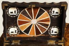 Indian Ebony Scalloped Sided Box - 663857
